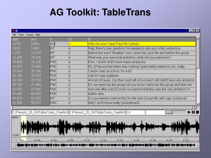 AG Toolkit: TableTrans