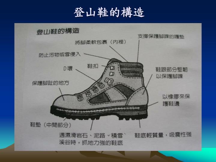 登山鞋的構造