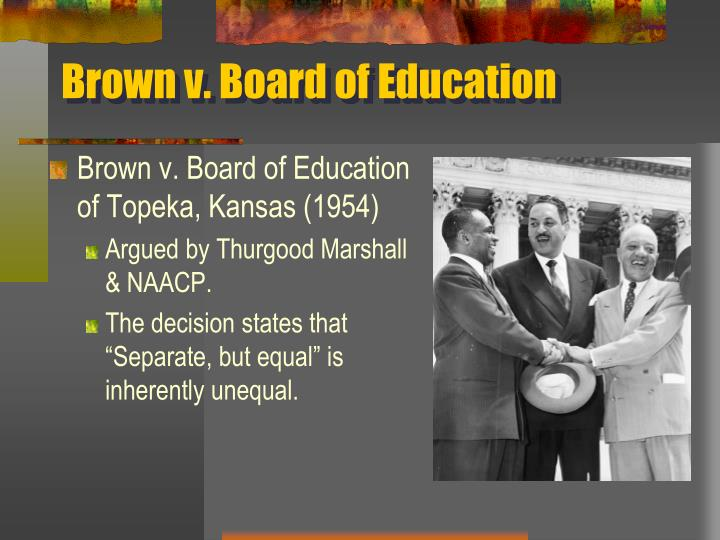 brown v board of education of topeka kansas 1954 Brown v board of education of topeka (1 mrs sadie emmanuel, et al appellee board of education of topeka, shawnee county, kansas decision for brown et.