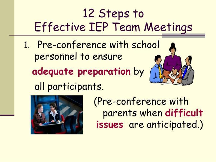 12 steps to effective iep team meetings