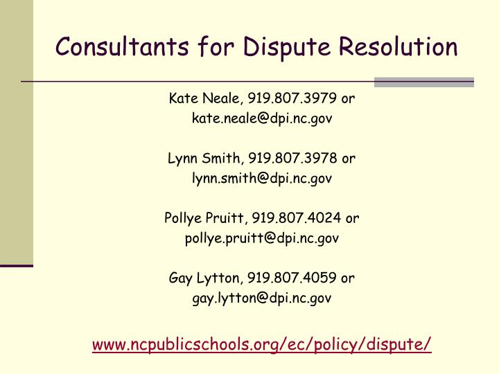 Consultants for Dispute Resolution