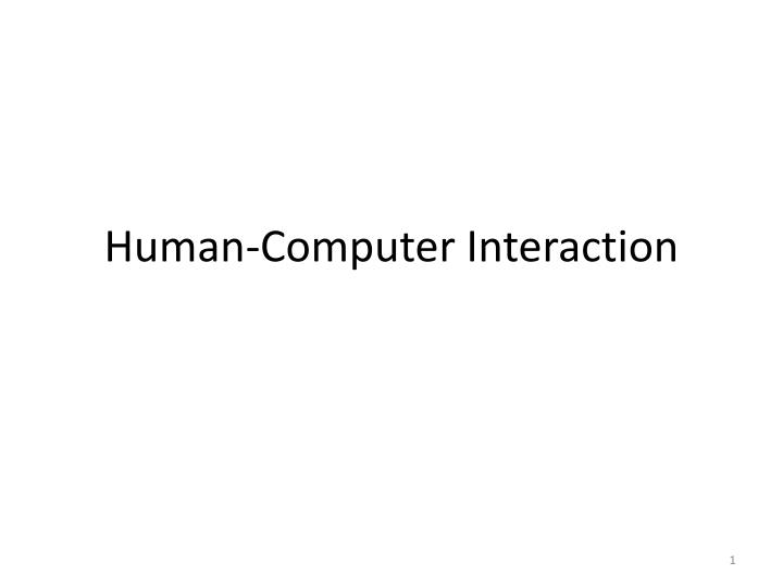 human computer interaction n.
