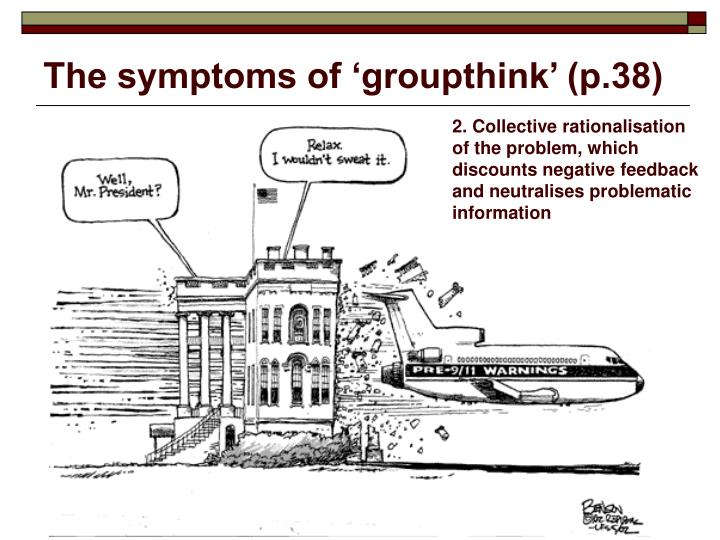 The symptoms of 'groupthink' (p.38)