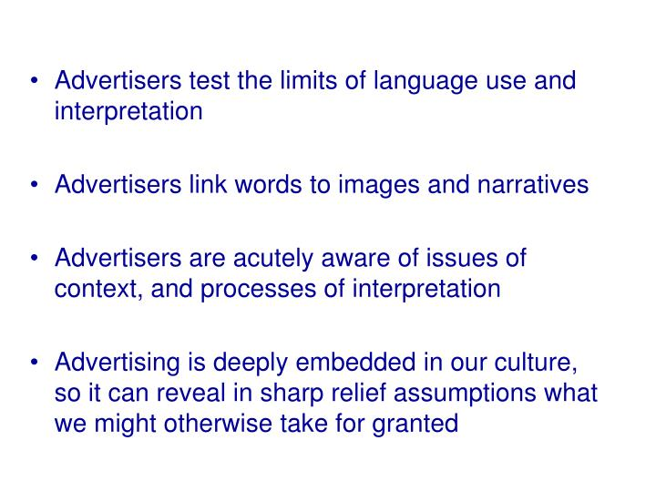 Advertisers test the limits of language use and interpretation