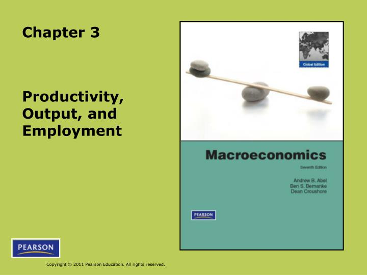 productivity output and employment n.