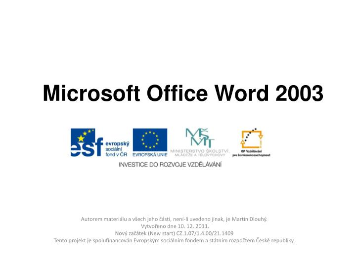 download office word 2003