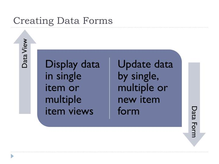 Creating Data Forms