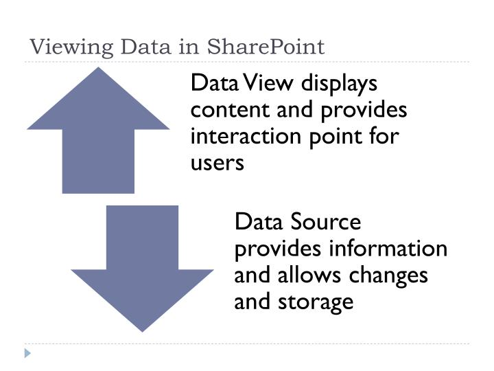 Viewing Data in SharePoint