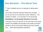don berwick the moral test