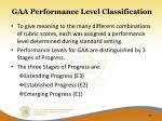 gaa performance level classification1