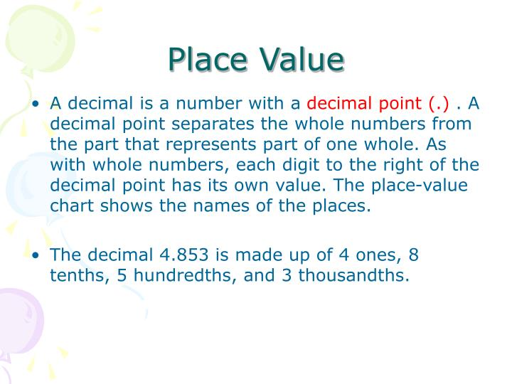 Ppt Place Value Through Thousandths Powerpoint Presentation Id
