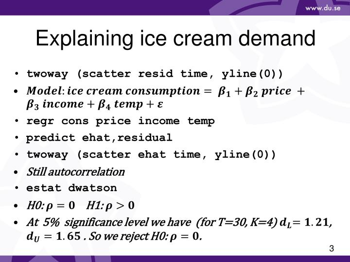 Explaining ice cream demand1