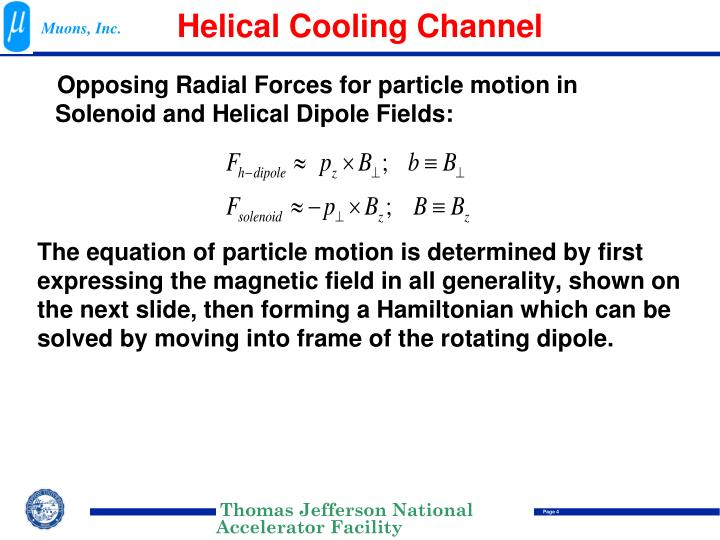 Helical Cooling Channel