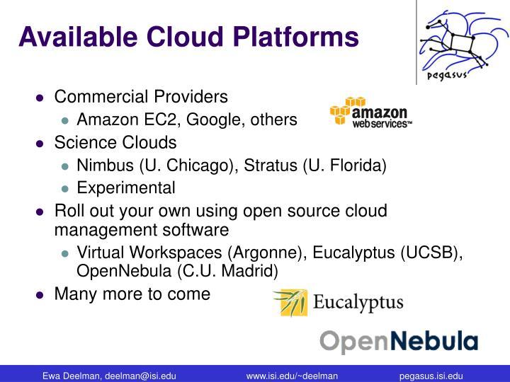 Available Cloud Platforms
