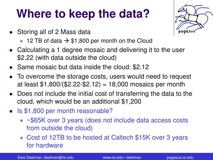 Where to keep the data?