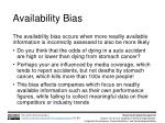 availability bias
