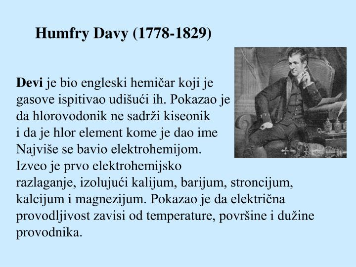 Humfry Davy (1778-1829)
