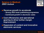 science medical 2003 outlook
