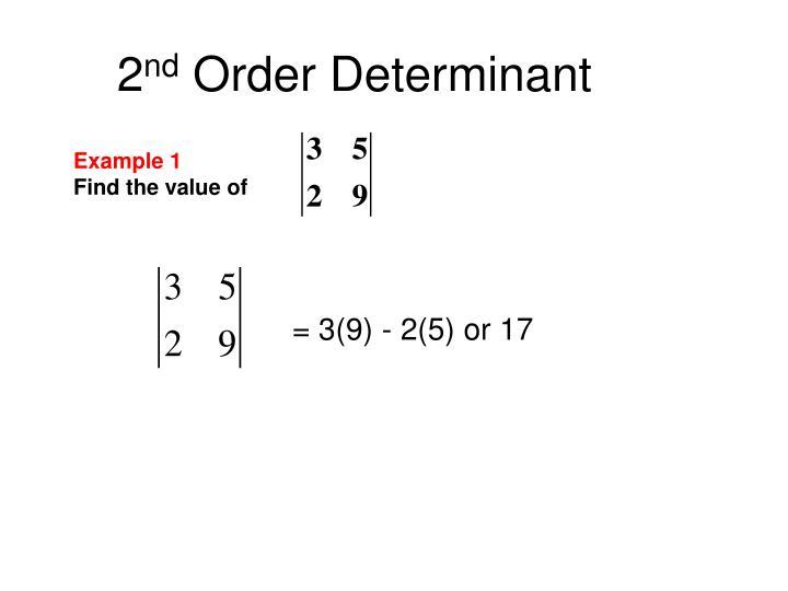 2 nd order determinant