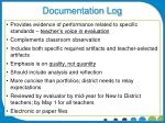 documentation log