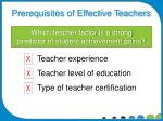 which teacher factor is a strong predictor of student achievement gains
