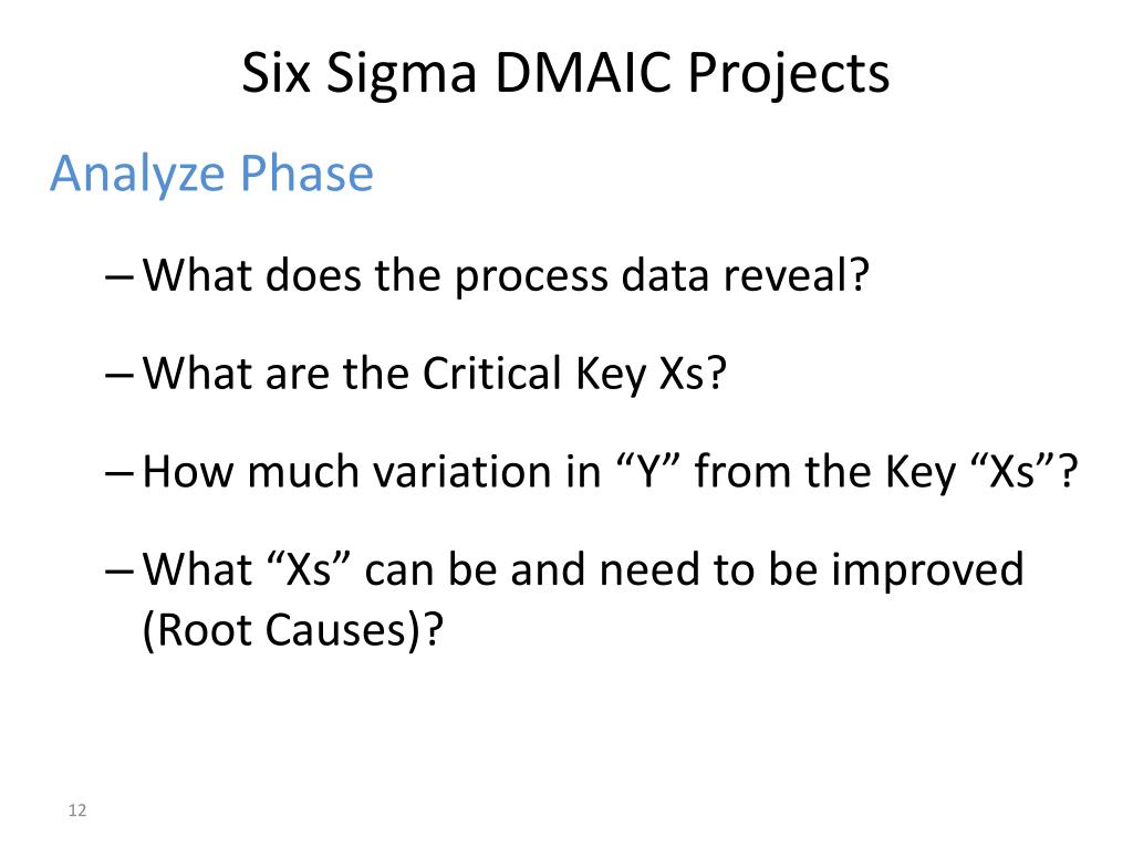 PPT - The DMAIC Lean Six Sigma Project and Team Tools Approach