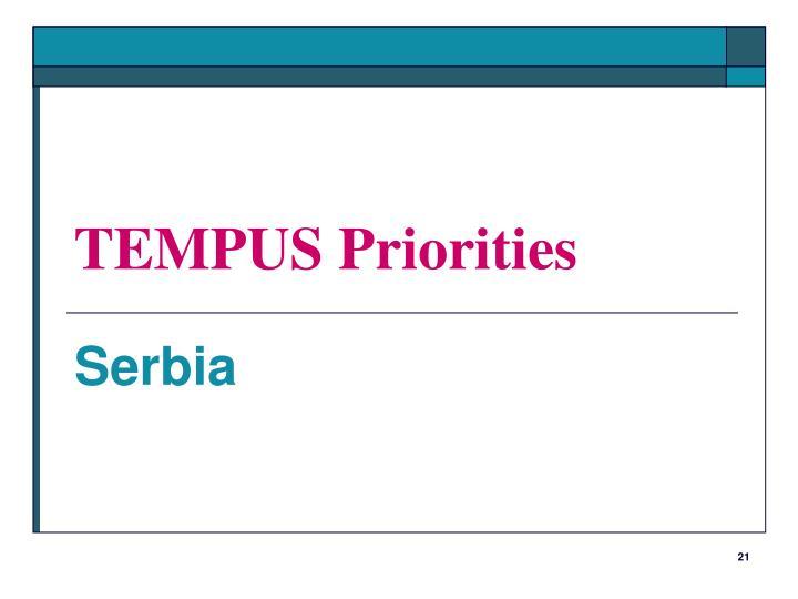 TEMPUS Priorities