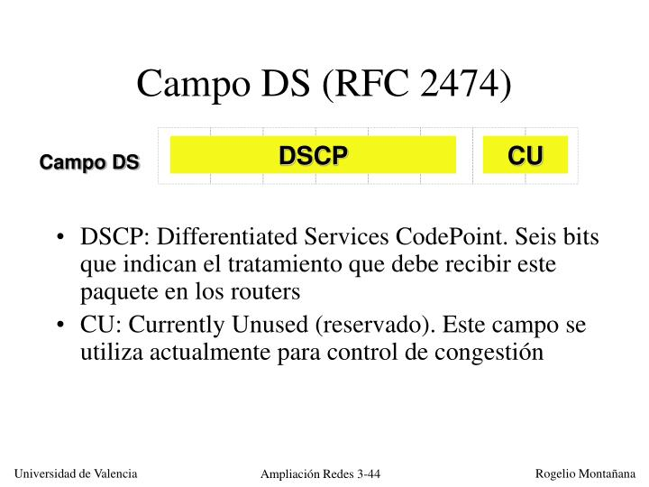 Campo DS (RFC 2474)