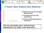 a caution about graphical data summaries