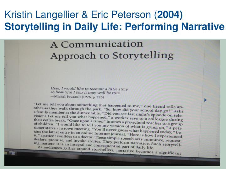 Kristin Langellier & Eric Peterson (