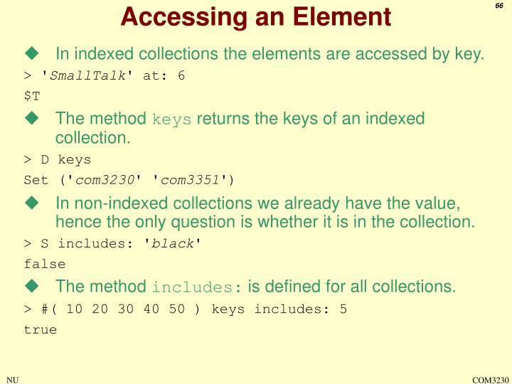 Accessing an Element