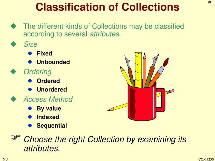 Classification of Collections