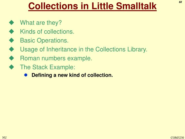 Collections in Little Smalltalk