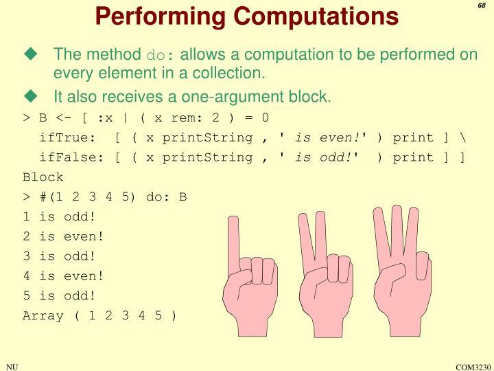 Performing Computations