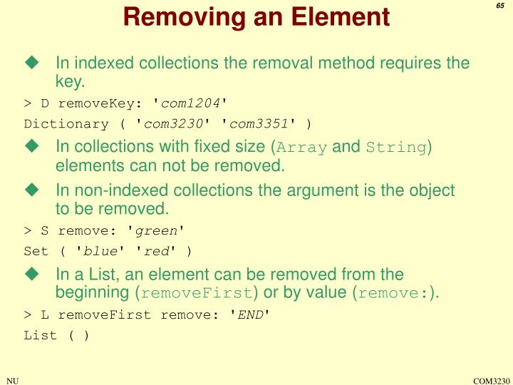 Removing an Element