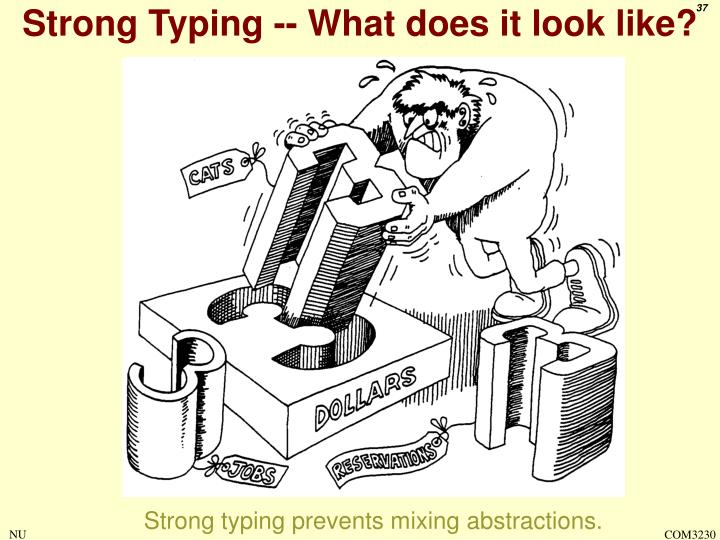 Strong Typing -- What does it look like?