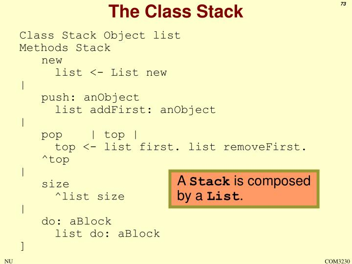 The Class Stack