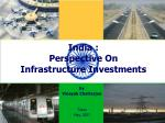 india perspective on infrastructure investments