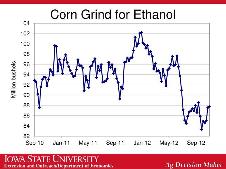 Corn Grind for Ethanol