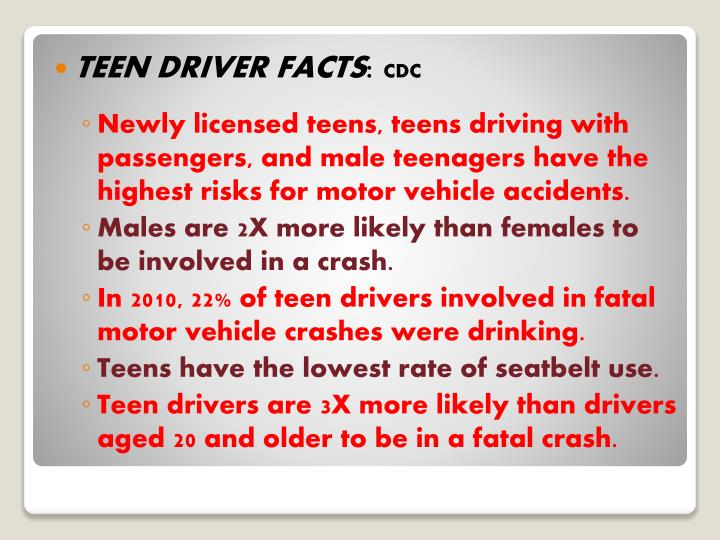 TEEN DRIVER FACTS