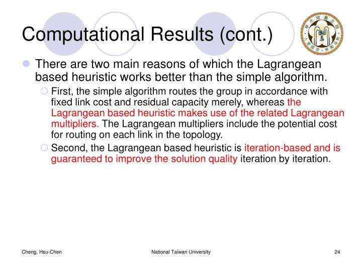 Computational Results (cont.)