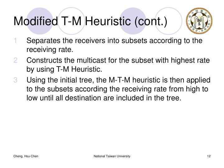 Modified T-M Heuristic (cont.)