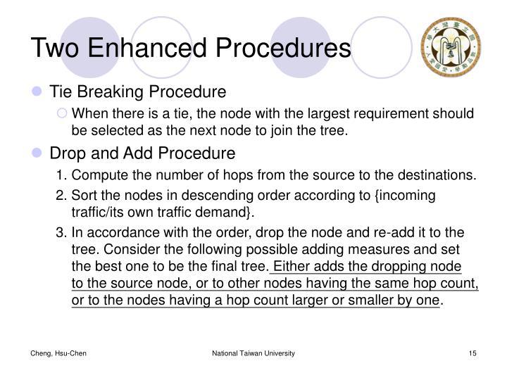 Two Enhanced Procedures