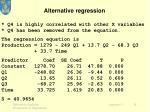 alternative regression