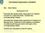 correlated explanatory variables