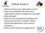 critical issues 1