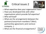 critical issues 2
