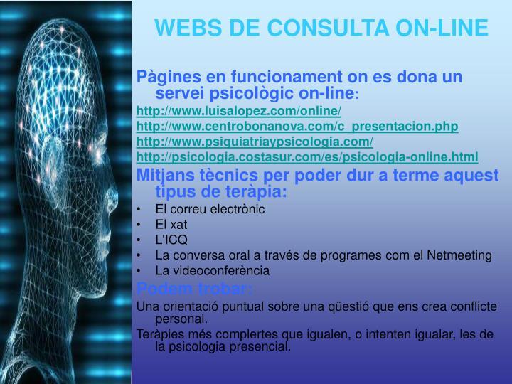 Pàgines en funcionament on es dona un servei psicològic on-line