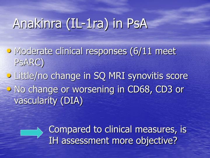 Anakinra (IL-1ra) in PsA