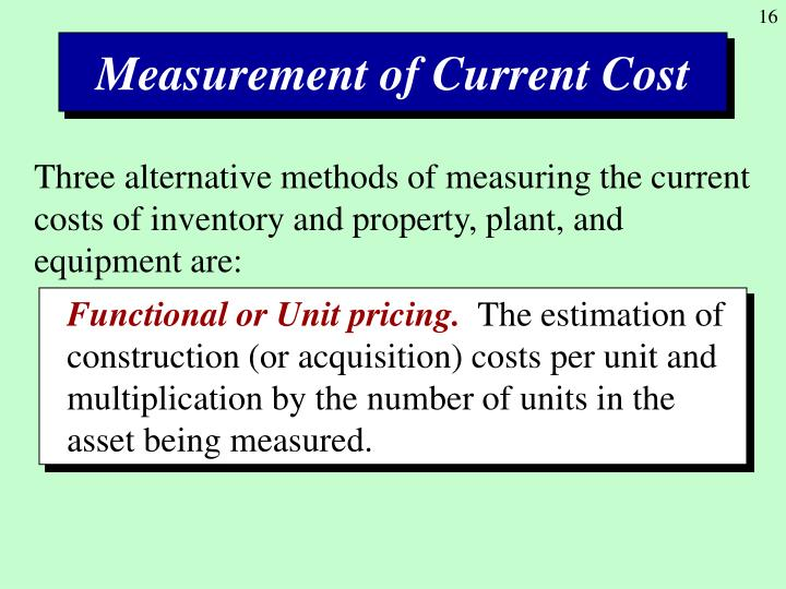Measurement of Current Cost